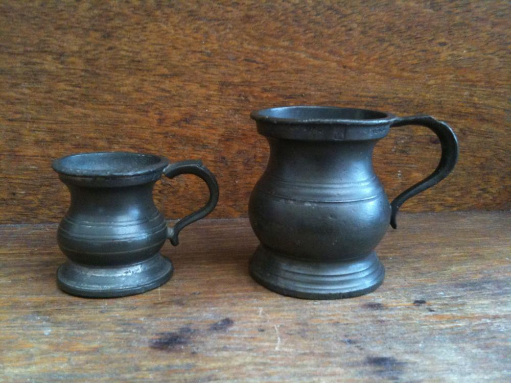 Antique English Measuring Tankards